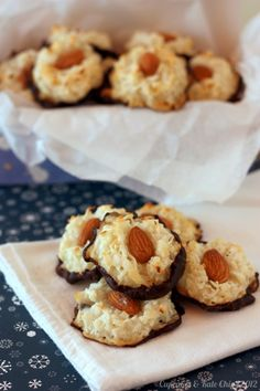 Almond Chocolate Macaroons –This coconut candy recipe is so delicious! Wrap some up and give them to your friends for the holidays –they'll love it!