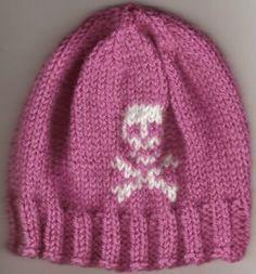 Baby skull and crossbones hat
