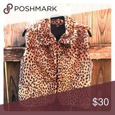 Vintage leopard vest Vintage faux leopard vest Jackets & Coats Vests