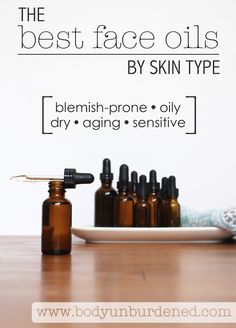 Face oils naturally moisturize skin and are filled with protective vitamins and antioxidants! But it's important to use the right oil for your skin needs.   Find the best face oil for YOUR skin!  [natural beauty, natural remedy, natural skincare, DIY skincare]