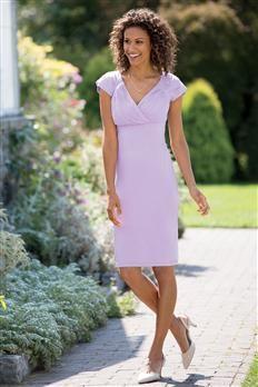 Slimming Cap Sleeve Sheath Dress By Shape Benefits | Chadwicks