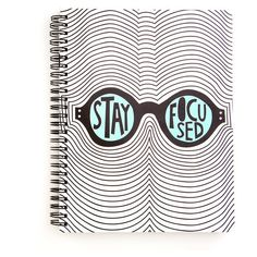 rough draft notebook stay focused ($9) ❤ liked on Polyvore featuring home, home decor, stationery, fillers, notebooks, accessories, books and other