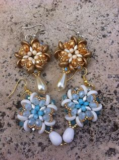 Orecchini con piggy e superduo - Tutorial Earrings Fleur de lys