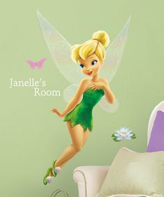 Tinker Bell Personalized Wall Decal Set