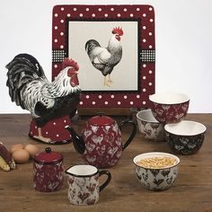 Country Rooster Teapot 40 oz. by Tina Higgins - Certified International Dinnerware