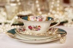 Beautiful Vintage China Trio by saddleworthshindigs on flickr