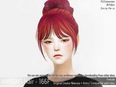 Hair 166F (Newsea + Anto) at May Sims via Sims 4 Updates