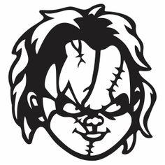 Halloween Silhouettes, Halloween Vector, Halloween Pumpkin Stencils, Pumpkin Carving, Chucky Face, Types Of Vectors, Svg Cuts, Vector Art, Vinyl Decals