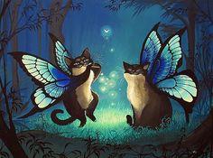 Art: Cat Fairies by Artist Nico Niemi  This one is precious !!