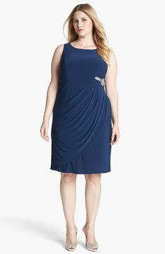 Alex Evenings Embellished Draped Dress & Jacket (Plus Size) available at #Nordstrom