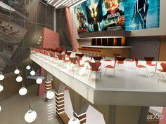 Холл кинотеатра: интерьер, прихожая, холл, вестибюль, фойе, современный, модернизм, 50 - 80 м2, кинотеатр #interiordesign #entrancehall #lounge #lobby #lobby #modern #50_80m2 #cinema