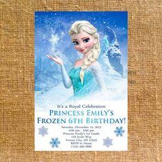 Customized Frozen Birthday Party Invite - Digital File