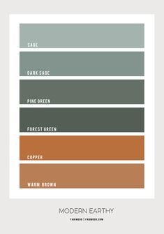 green and copper color palette, color combos, color scheme, copper and green color combination, earthy color palette Office Color Schemes, Room Color Schemes, Room Colors, House Colors, Interior Colour Schemes, Office Colours, Copper Colour Palette, Colour Pallette, Copper Color