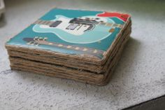 Guitar Coaster Set by LoveIncPhilly on Etsy, $10.00