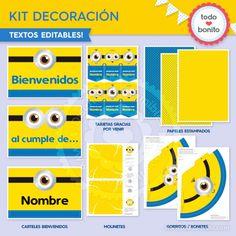 Minions: Kit decoración