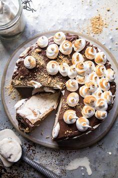 Salty Peanut Butter S'more Ice Cream Cake (VIDEO) | halfbakedharvest.com @hbharvest
