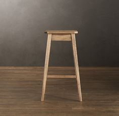 RH's Oak Counter Stool:The unsung hero of interior design, our stool serves as seating or an impromptu side table. Understated and strong, like its farmhouse forebears, it's built of oak and authentically aged.