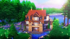 Today we're building a luxury log cabin in the sims 4 :) Sims 4 ♥ Speed build ♥ log cabin ♥ simulation ♥ mansion ♥ gaming ♥ outdoor retreat ♥ chalet ♥ holida. The Sims, Sims 4, Luxury Log Cabins, Sims Building, Logs, Mansions, House Styles, Home Decor, Decoration Home