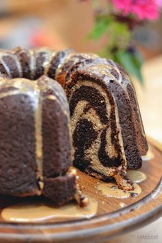 Chocolate Coffee Marbled Bundt Cake from BethCakes