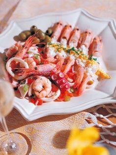 魚介と野菜の刻みサラダ