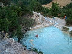 Free hot springs in Tuscany, including Saturnia.