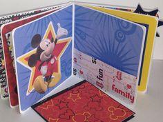 Disney premade pages chipboard scrapbook mini album by ascrapabove