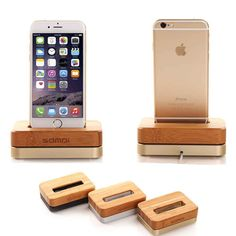 2016 new wooden Birch Vertical Desktop dock for apple iPhone 6,iphone6s , iPhone SE ,Charger Docking Station color silver gold(China (Mainland))
