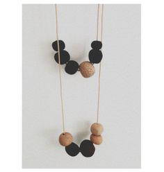 Clay bead necklace #DIY