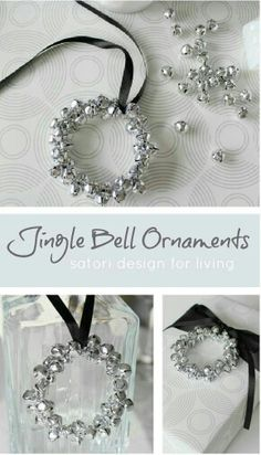 DIY ornament - jingle bells (maybe mix bells and beads for not so much jingle)
