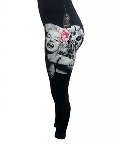 Inked Boutique - Women's Smile Now Leggings Marilyn Monroe Day of the Dead Sugar Skull  http://www.inkedboutique.com