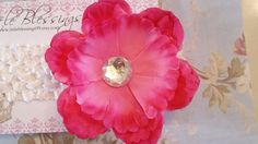 Beautiful Hot Pink Peony Flower with by littleblessings99 on Etsy, $8.00