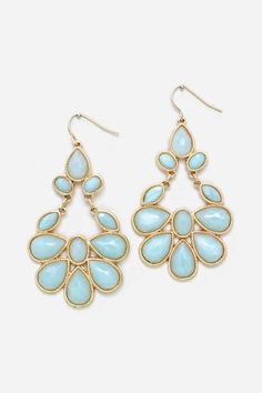 Juniper Chandelier Earrings in Blue Aspen