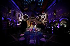Huber Court at the Chrysler Museum transforms into a beautiful reception hall