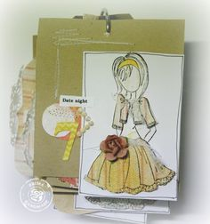 CHA Peek 5-Paper Doll Stamps, Junkyard Findings, and Donna Downey Stencils!!
