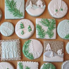 Icing for Christmas Cookies . the top 21 Ideas About Icing for Christmas Cookies . Holiday Cut Out Sugar Cookies with Easy Icing Sallys Fancy Cookies, Iced Cookies, Cute Cookies, Cookies Et Biscuits, Snow Cookies, Square Cookies, Ginger Cookies, Sugar Cookie Recipe With Royal Icing, Sugar Cookie Icing
