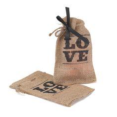 Love Rustic Burlap Favor Bags 25/pk for 18.99