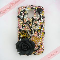Vintage Floral Roses Droid Optimus Case   $60.00 SHOP: www.etsy.com/shop/kawaiixcoutureHandmade decoden phone cases, jewelry, & accessories ♡