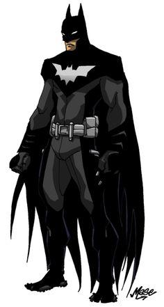 Batman Redesign II by Comic Book Characters, Comic Book Heroes, Comic Character, Comic Books Art, Dc Heroes, Comic Art, Batgirl, Nightwing, Batman Painting