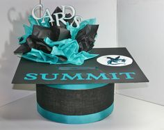 Graduation 2014, Graduation Party Decoration, Custom School Colors By Request, Graduation Card Box, Graduation Cap, Card Box