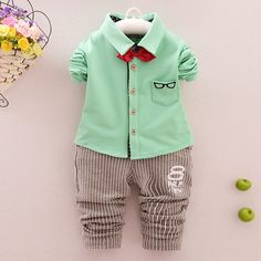 fdaa6e45250eb High quality Spring Autumn Baby Boy Set Cartoon Set Newborn Cotton Suits  Baby Clothing 2 pcs baby set free shipping-in Clothing Sets from Mother    Kids on ...