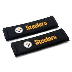 Pittsburgh Steelers Seat Belt Shoulder Pad Covers. Buy Them From. www.bjsportstore.com
