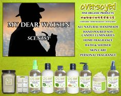 My Dear Watson (Compare To Scentsy®) Product Collection - A refreshing bergamont contrasted with mint, cedar and suede. #OverSoyed #MyDearWatson #Scentsy #Candles #HomeFragrance #BathandBody #Beauty