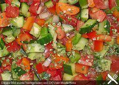 Andalusischer Gemüsesalat, ein tolles Rezept aus der Kategorie Gemüse. Bewertungen: 40. Durchschnitt: Ø 4,1.