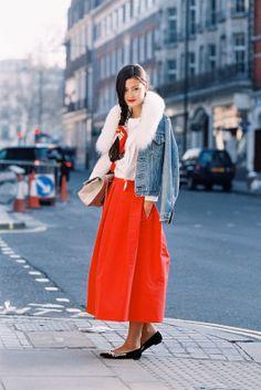 (via Vanessa Jackman: London Fashion Week AW 2013.Peony) www.fashionfortheforecast.com #style #inspiration #whattowear #london #weather #forecast #fashionforecast