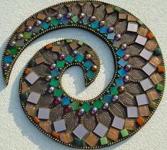 Copper Fall - A Mosaic Art Swirl, 13 inches in diameter. $199.00, via Etsy.