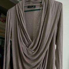 Brand new !! Cowl neck long sleeve shirt Beautiful sexy brand new apt9 cowl neck long sleeve shirt in gray Apt. 9 Tops Tees - Long Sleeve