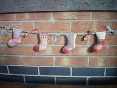 Patchwork Mini Christmas Stocking Garland