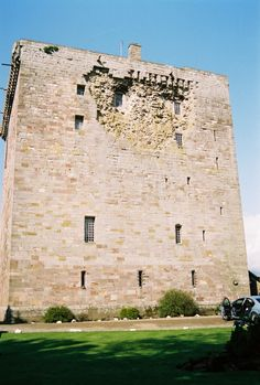 Borthwick Castle, showing the damage from canon fire from Oliver Cromwell's forces.