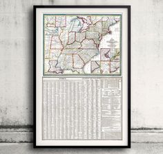 United States - Mitchell's Travellers guide - 1835 - FREE SHIPPING - SKU 0073 by PaulMaps on Etsy