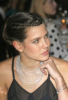 princess charlotte casiraghi  love her hair!